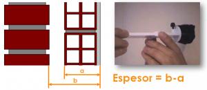Método de medición del aislamiento inyectado o insuflado en cámara de aire