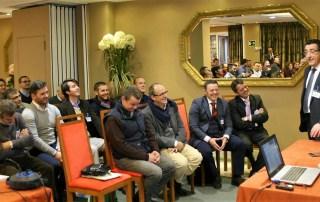 Michel Zugadi, presidente de AISLA, en un momento de su intervención