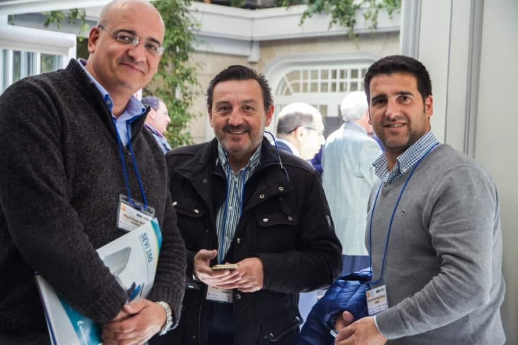 Miguel Angel Muñoz, de AISMAR, y Angel Jorges y David Fernández, de JOMAR